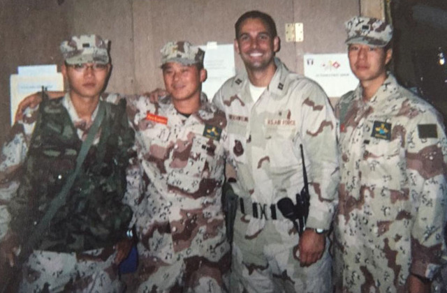 Capt. Mason VanHouweling while in Afghanistan with Air Force Reserves in 2002. VanHouweling is now CEO at University Medical Center and a lieutenant Colonel in the Air Force Reserves.