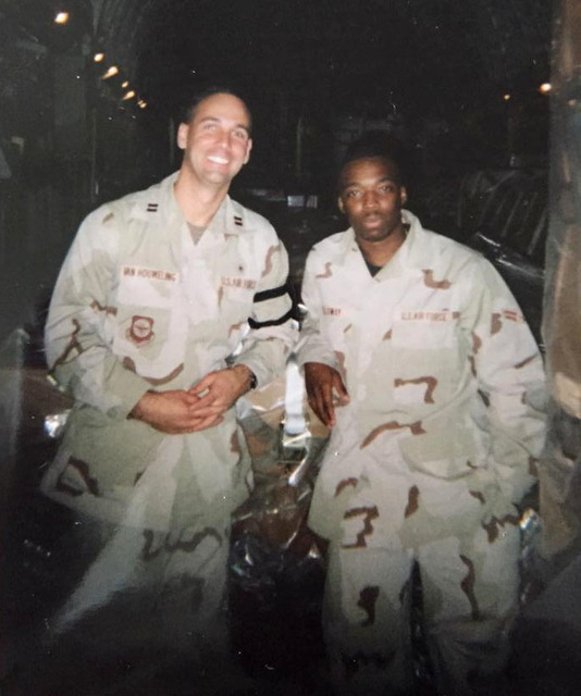 Capt. Mason VanHouweling while in Afghanistan with the Air Force Reserves in 2002. VanHouweling is now CEO at University Medical Center and a lieutenant colonel in the Air Force Reserves.