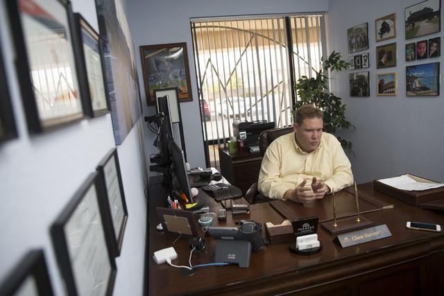 Insurance broker Eliam Marrero at his Las Vegas office on Tuesday, Nov. 15, 2016, in Las Vegas. (Erik Verduzco/Las Vegas Review-Journal) Follow @Erik_Verduzco
