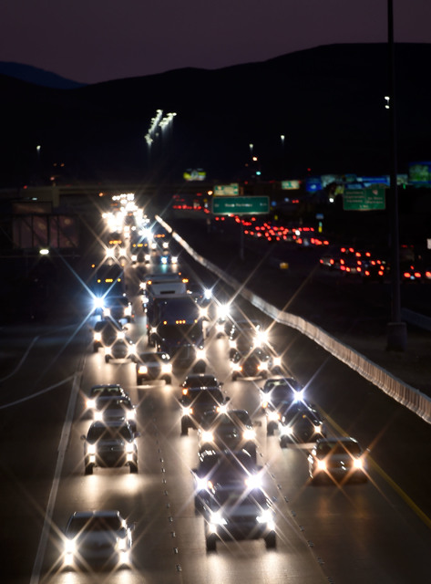 Vehicle traffic travels northbound along Interstate 15 south of Las Vegas,  Monday, Nov. 21, 2016, in Las Vegas. David Becker/Las Vegas Review-Journal Follow @davidjaybecker