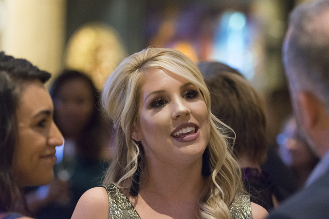 Kady Casullo, Southern Nevada's Make-A-Wish Volunteer of the Year, is honored at the Vegas Gives event at the Grand Canal Shoppes in Las Vegas, Tuesday, Nov. 15, 2016. Jason Ogulnik/Las Vegas Revi ...
