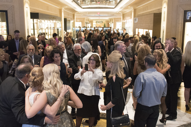 Guests and honorees mingle at the Vegas Gives event at the Grand Canal Shoppes in Las Vegas, Tuesday, Nov. 15, 2016. Jason Ogulnik/Las Vegas Review-Journal