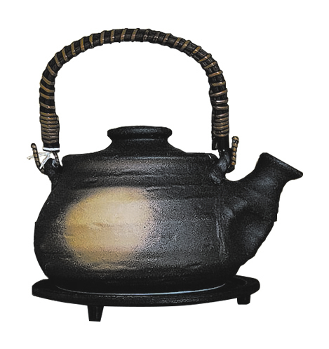 A teapot on display at Cha Garden in the Lucky Dragon.
