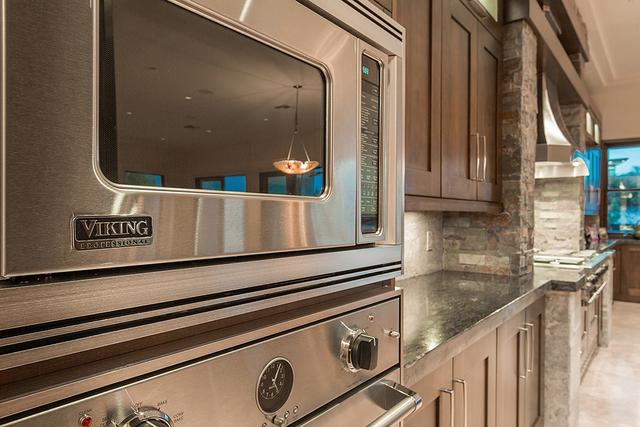 The kitchen has Viking appliances. (Courtesy)