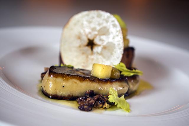 Hudson Valley foie gras appetizer at Lakeside in Wynn Las Vegas on Friday, Nov., 11, 2016. Jeff Scheid/Las Vegas Review-Journal Follow @jeffscheid