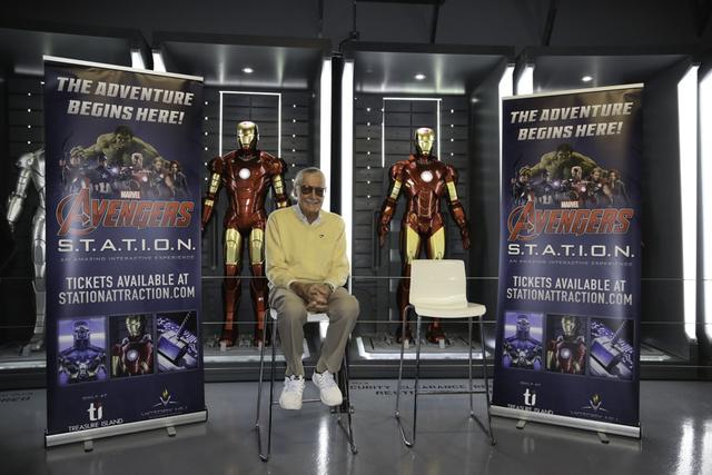 Marvel Comics founder Stan Lee is shown at Treasure Island's Marvel Avengers S.T.A.T.I.O.N. on Friday, Nov. 18, 2016. (Edison Graff photo)