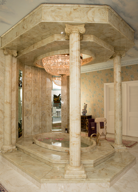 The famous master bath in the Liberace Mansion. (Tonya Harvey/Real Estate Millions)