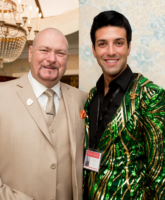 Liberace Mansion owner Martyn Ravenhill and Michael Orsini. (Tonya Harvey/Real Estate Millions)