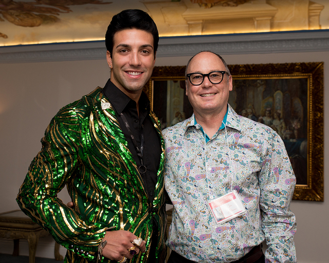 Liberace fans Michael Orsini and Jon Altimus.  (Tonya Harvey/Real Estate Millions)