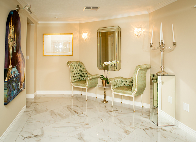 A sitting area leads to the ballroom. (Tonya Harvey/Real Estate Millions)