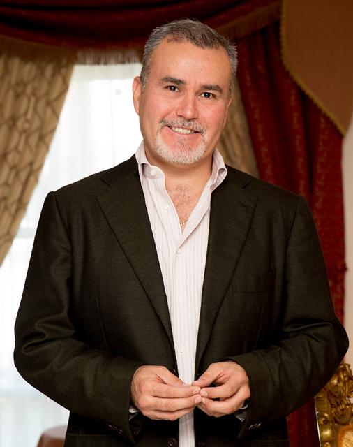 Ivan Serna at the Liberace Mansion. (Tonya Harvey/Real Estate Millions)