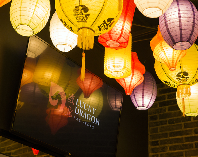 Chinese lanterns hang from the ceiling at the Dragon's Alley in the Lucky Dragon hotel-casino, 300 W. Sahara Ave., on Friday, Nov. 18, 2016. Las Vegas' newest casino, which will cater to Asians, i ...