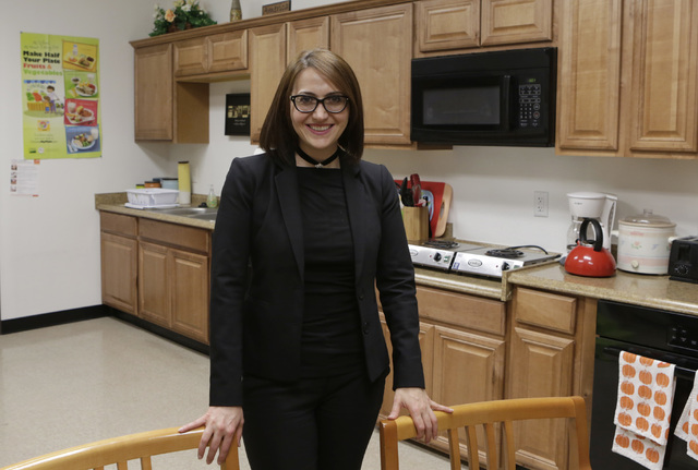 Armena Mnatsakanyan, CEO of Lutheran Social Services of Nevada (LSSN), poses for a photo inside the kitchen of LSSN Wednesday, Oct. 26, 2016, in Las Vegas. Bizuayehu Tesfaye/Las Vegas Review-Journ ...