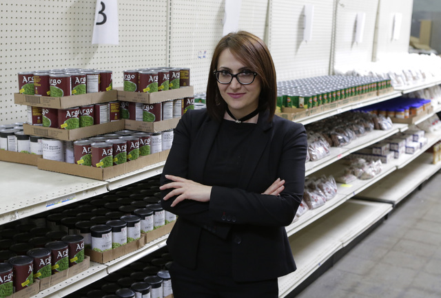 Armena Mnatsakanyan, CEO of Lutheran Social Services of Nevada (LSSN), poses for a photo inside the pantry of LSSN, Wednesday, Oct. 26, 2016, in Las Vegas. Bizuayehu Tesfaye/Las Vegas Review-Journ ...