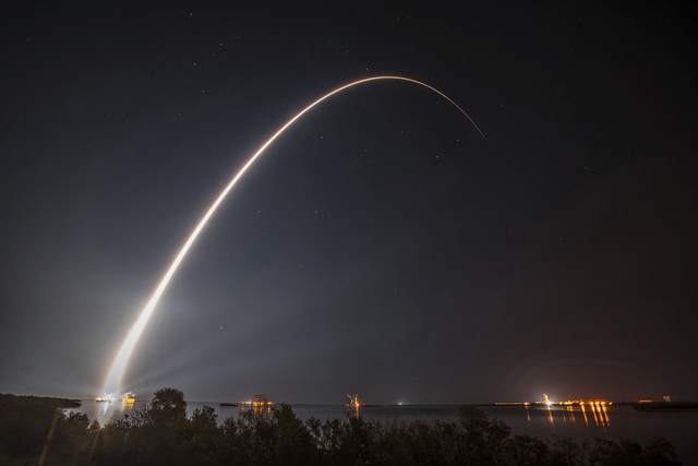 This photo provided by United Launch Alliance shows a United Launch Alliance (ULA) Atlas V rocket carrying GOES-R spacecraft for NASA and NOAA lifting off from Space Launch Complex-41 at 6:42 p.m. ...