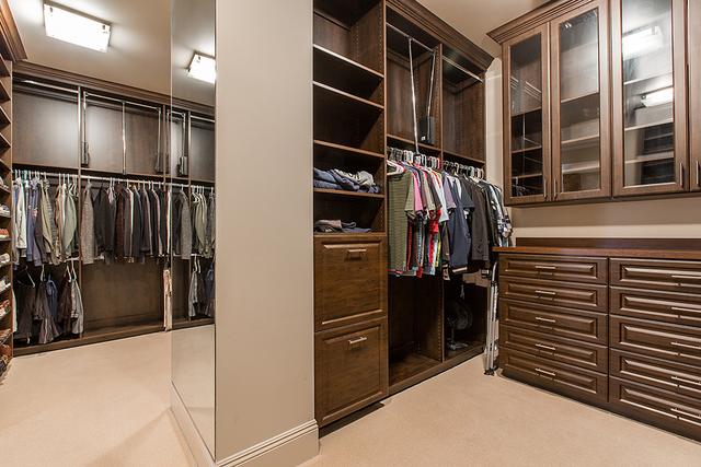 The master bedroom's closet. (Courtesy)