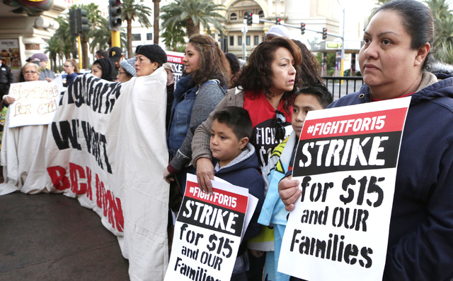 fast food workers others lead protests for higher pay las vegas review journal. Black Bedroom Furniture Sets. Home Design Ideas