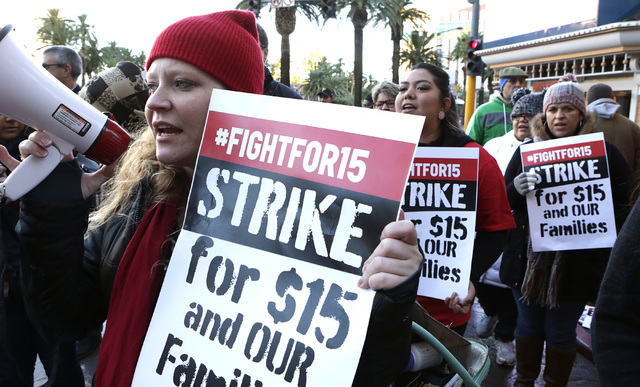 Fast Food Workers Others Lead Protests For Higher Pay Las Vegas