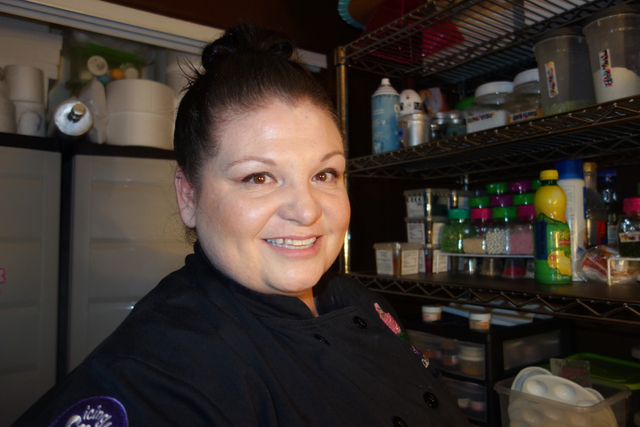 Michelle Curran is seen here in her home workspace at her North Las Vegas home. Special to View