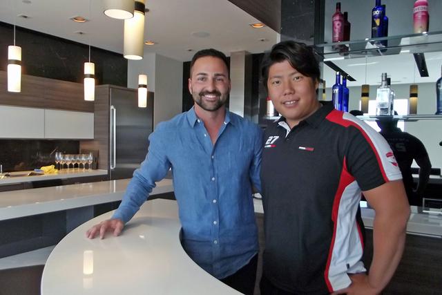 Yuki Harata and his friend, Frank Napoli of The Napoli Group. (Courtesy of Rahimi Designs)