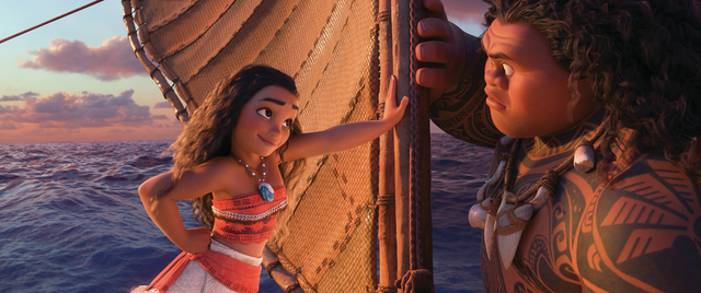 Tenacious teenager Moana (voice of Auliʻi Cravalho) recruits a demigod named Maui (voice of Dwayne Johnson) to help her become a master wayfinder and sail out on a daring mission to save her ...