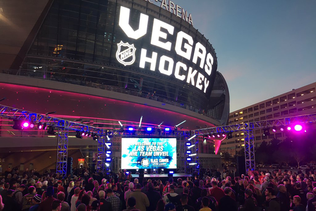 The official name of Bill Foley's NHL team will be unveiled in Las Vegas on Tuesday, Nov. 22, 2016. (@WilsonElaineM/Twitter)