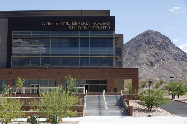 The James E. and Beverly Rogers Student Center is seen Wednesday, June 29, 2016, at Nevada State College in Henderson. (Rachel Aston/Las Vegas Review-Journal) Follow @rookie__rae