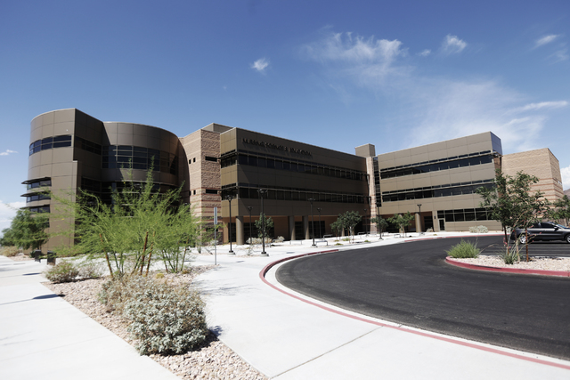 The Nursing, Science, and Education building is seen Wednesday, June 29, 2016, at Nevada State College in Henderson.  (Rachel Aston/Las Vegas Review-Journal) Follow @rookie__rae
