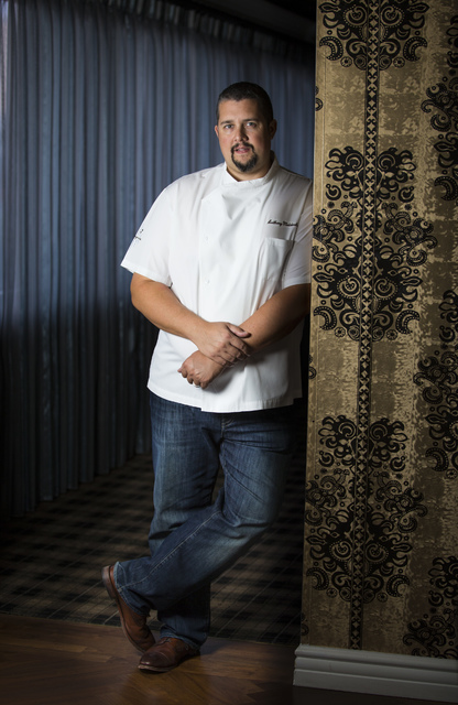 Executive Chef Anthony Meidenbauer poses at The Barrymore inside of the Royal Resort in Las Vegas on Thursday, Oct. 27, 2016. Chase Stevens/Las Vegas Review-Journal Follow @csstevensphoto