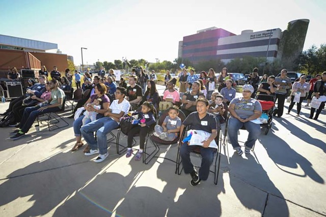 People attend the Abriendo Caminos/Opening Pathways Kickoff event at UNLV in Las Vegas, on Saturday, November 5, 2016. (Claudio Ferreiro/UNLV College of Education)