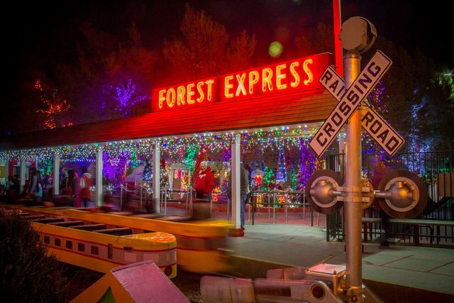 A look at the Opportunity Village Magical Forest train station. The holiday attraction opened Friday night and is in operation through New Year's Day. (Courtesy photo)