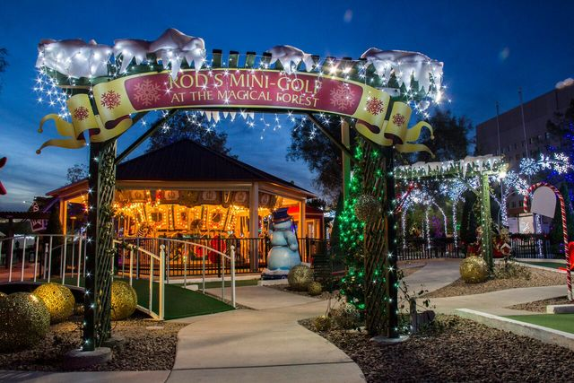 A look at the Opportunity Village Magical Forest Enchanted Carousel. The holiday attraction opened Friday night and is in operation through New Year's Day. (Courtesy photo)