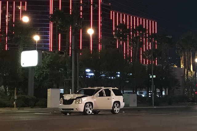 The scene of a fatal accident in Las Vegas on Nov. 19, 2016 (Rio Lacanlale/Las Vegas Review-Journal)