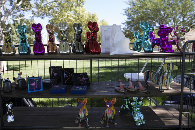Animal themed art pieces are seen for sale during the Family, Fur and Fun Festival at Exploration Park on Saturday, Oct. 15, 2016, in Las Vegas. (Erik Verduzco/Las Vegas Review-Journal Follow @Eri ...