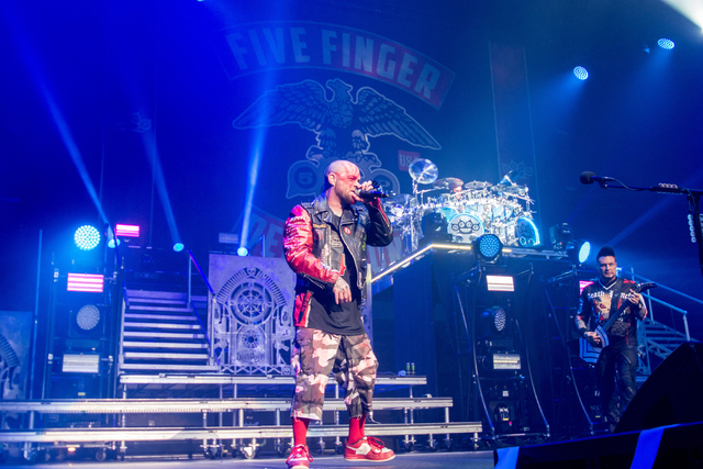 Five Finger Death Punch headlines T-Mobile Arena on Friday, Oct. 28, 2016, in Las Vegas. (Gene Boothe)