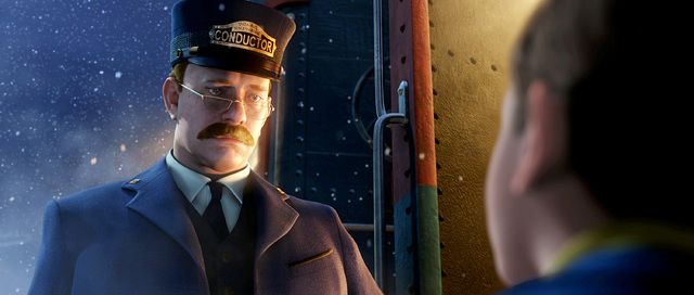 THE POLAR EXPRESS - The Academy Award(r) -winning team of Tom Hanks and director Robert Zemeckis reunite for the inspiring tale of a young boy and the magical train he boards to the North Pole. Ba ...