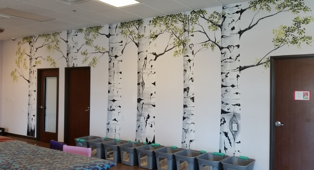 Local artist Lily Adamczyk created a mural for the Poppy Foundation, 6601 Sky Pointe Drive, a nonprofit rescue that permanently houses chronically ill, abused or abandoned felines. Special to View