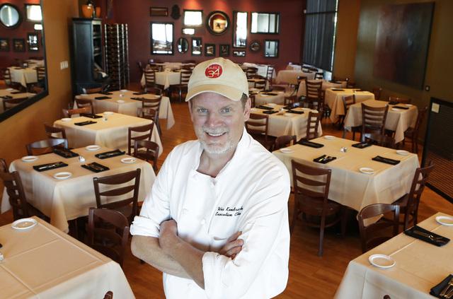 Chef Wes Kendrick of Table 34 poses for a photo inside his restaurant Thursday, Nov. 17, 2016. Bizuayehu Tesfaye/Las Vegas Review-Journal Follow @bizutesfaye