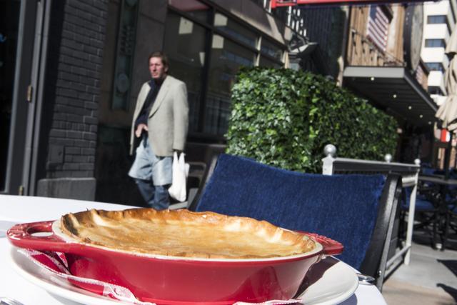 A chicken pot pie sits on a table in from of Triple George Restaurant, 201 N. Third St. on Friday, Nov. 18, 2016. Jeff Scheid/Las Vegas Review-Journal Follow @jeffscheid