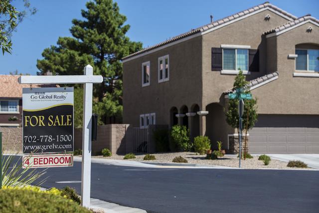 A home for sale in northwest Las Vegas on Thursday, Sept. 1, 2016. (Benjamin Hager/Las Vegas Review-Journal)
