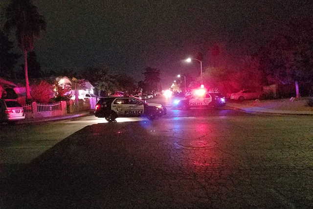 Las Vegas police evacuated homes in a southeast valley neighborhood near East Twain Avenue and Boulder Highway.