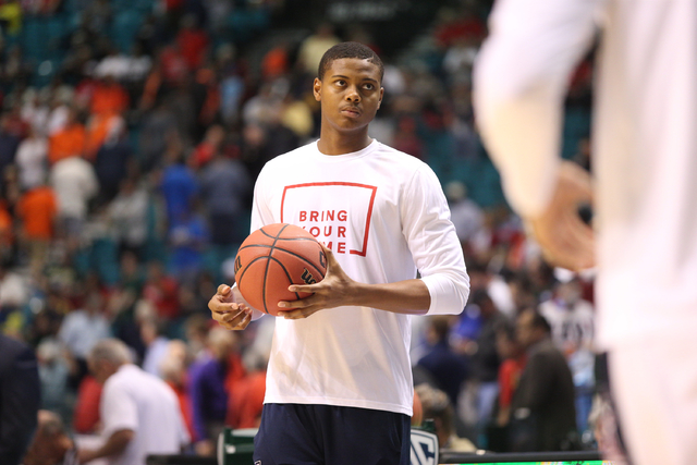 Arizona Wildcats forward Ray Smith is pictured during the Wildcats 82-78 win over the Colorado Buffaloes in the quarterfinal round of the Pac-12 tournament. MGM Grand Garden Arena, Las Vegas, NV.  ...