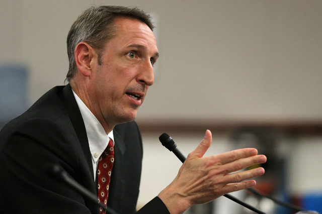 Sen. Scott Hammond, R-Las Vegas, urges lawmakers to support a bill that would allow parents to get a portion of the state funding that the public school would get and put it toward an education el ...