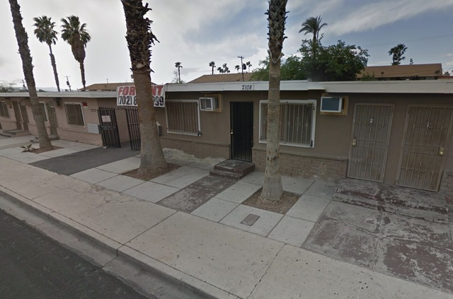 The shooting occurred about 1 p.m. at 2108 Sunrise Ave., near Fremont Street and Eastern Avenue, Metropolitan Police Department Lt. Grant Rodgers said. (Google Street View)