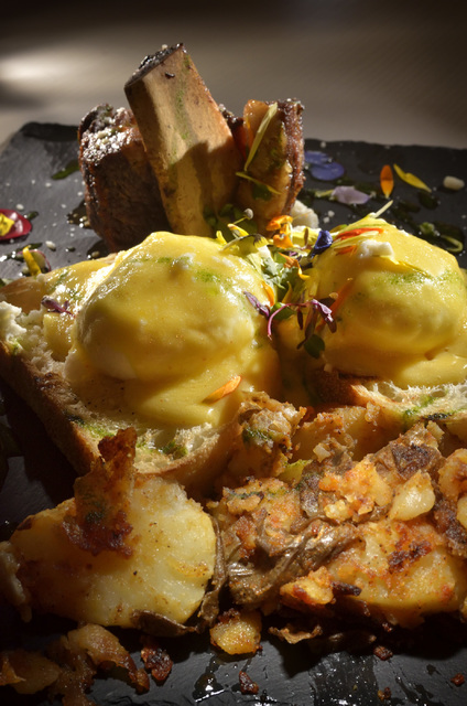 The Short Ribs Benedict is shown at Served at 1770 W. Horizon Ridge Pkwy. in Henderson on Saturday, Nov. 19, 2016. Bill Hughes/Las Vegas Review-Journal