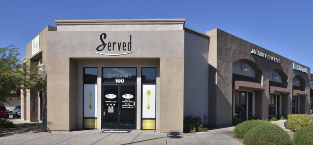 The exterior of Served is shown at 1770 W. Horizon Ridge Pkwy. in Henderson on Saturday, Nov. 19, 2016. Bill Hughes/Las Vegas Review-Journal