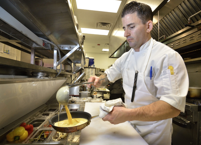 Chef and owner Matt Meyer works in the kitchen at Served at 1770 W. Horizon Ridge Pkwy. in Henderson on Saturday, Nov. 19, 2016. Bill Hughes/Las Vegas Review-Journal