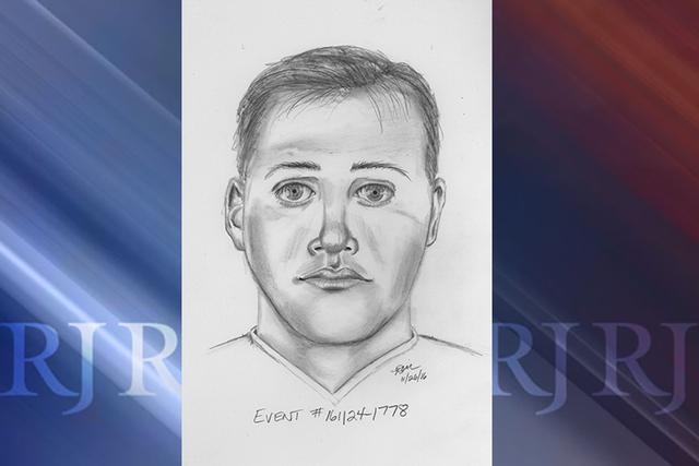 A composite sketch depicts a suspect in a Thursday, Nov. 24, 2016, sexual assault of a child. (Las Vegas Metropolitan Police Department)