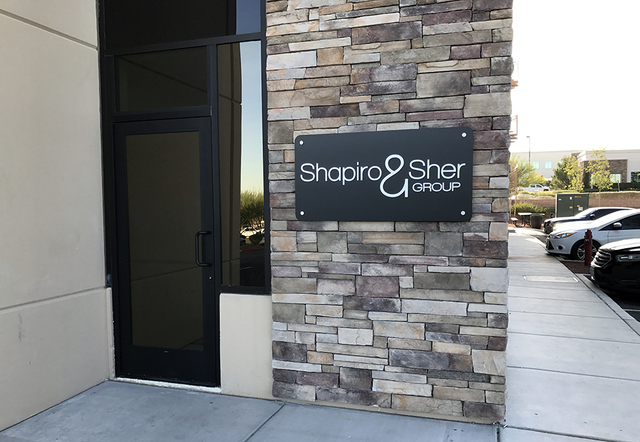 Luxury real estate company Shapiro & Sher Group has opened a new Henderson office at 3185 St. Rose Parkway. It is on the corporate campus of Berkshire Hathaway HomeServices Nevada Properties,  ...