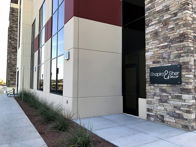COURTESY Luxury real estate company Shapiro & Sher Group has opened a new Henderson office at 3185 St. Rose Parkway. It is on the corporate campus of Berkshire Hathaway HomeServices Nevada Pro ...